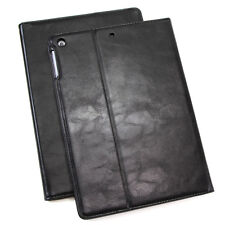 Funda de piel para Apple iPad Air 2 Tablet bolso cover case stand negro