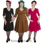 RKP46 Hell Bunny 50's 40s June Victory Wartime Vintage Pin Up Rockabilly Dress