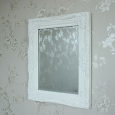 Ornate white rococo wall mirror shabby vintage chic bedroom hallway living room