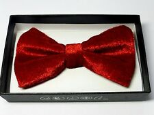 New Tuxedo PreTied Red Velvet  Bow Tie Satin Adjustable Bowtie