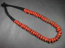 N3959 beautiful Tibetan Coral glass beads collectible women Fashion Necklace