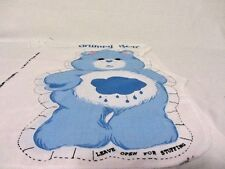 CARE BEAR GRUMPY BEAR  PILLOW PANEL FABRIC SPRING IND.  PATTERN # 6712
