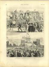 1875 The O'connell Centenary Celebrations In Dublin, Sackville Street, St Stephe