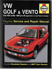 VW Volkswagen Golf & Vento 4-cyl Petrol & Diesel 1992-98 Haynes Repair Manual