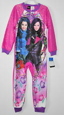 Disney Descendants pajamas girls size 6/6X one piece non-footed sleeper mal evie