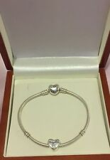 S925 Genuine Sterling Silver Daughter Heart Charm picture on pandora bracelet