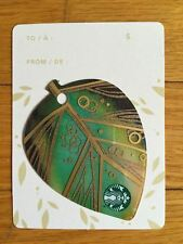 "Canada Series Starbucks ""2015 MINI LEAF - GREEN"" Gift Card - New No Value"