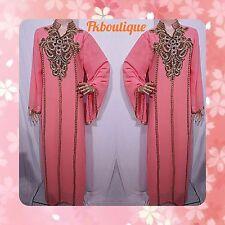 DUBAI Kaftan Jalabiya Jilbab Abaya Caftan Maxi Farasha Moroccan Women's Dress