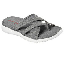 New Sketchers Womens 38937 Breeze Low Lucky Star Memory Foam Flip-Flop Sandals 9
