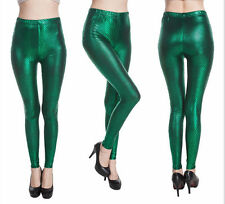 Womens - Snakeskin(ish) Pattern (Green) Stretch Leggings