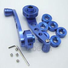 2x Billet Set Blue Car Truck Pickup Manual Door Handle Crank Window Winders New