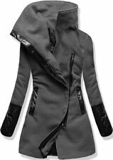 WOMEN LADY GREY WINTER COAT JACKET SIZE M (10-12)