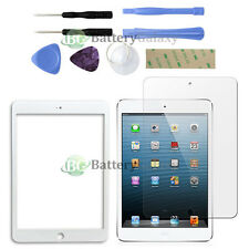 White LCD Screen Glass Lens Replacement+Shield Guard for Apple iPad mini +Tools