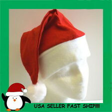 WHOLESALE LOT OF 50 SANTA CLAUS HATS CHRISTMAS PLAYS  FITS MOST PARTY FAVOR
