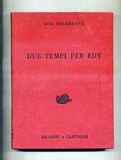 Zoa Sherburne # DUE TEMPI PER EDY # Baldini & Castoldi 1960