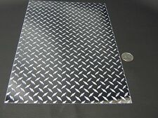 "MINI Silver Diamond Plate Sign Vinyl  24"" x 30 Feet, Self-adhesive, LongLif"