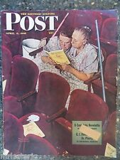 "Saturday Evening Post  April 6,1946  RARE Norman Rockwell ""Playbill"" Cover"