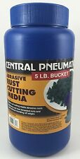 Central Pneumatic Abrasive Rust Cutting Media Rotary Tumbler 4+ Lbs