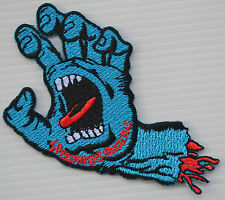 DEVIL ZOMBIE MONSTER BONE HAND SKATEBOARD BIKER EMBROIDERY IRON ON PATCH BADGE
