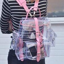 Transparent Clear Plastic Waterproof Backpack  Teenage PVC School Shoulders Bag