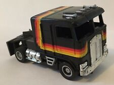 "VINTAGE 1980'S SLOT CARS COOL BLACK ""SEMI ""TYCO US-1 TRUCKING SLOT CAR TRUCK"