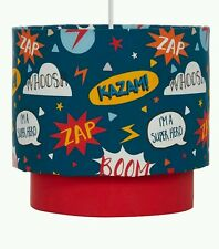 "BOYS/KIDS/CHILDS SUPERHERO Light or Lamp SHADE Lightshade NEW 9"" BED/PLAYROOM"