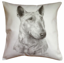 Bull Terrier MS Breed of Dog Themed Cotton Cushion Cover - Perfect Gift