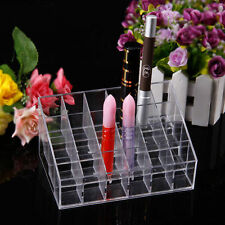 Clear 24 Makeup Cosmetic Lipstick Storage Display Stand Rack Holder Organizer SY