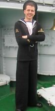 WW2 British Royal Navy,Ratings Sailors square rig,vintage serge wool uniform, RN