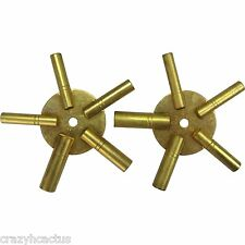 Clock Winder Winding Set of 2 Key BRASS Even & Odd Numbers Universal Mantle
