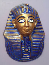 Egyptian King Tutankhamun Death Mask Wall Plaque Hieroglyphics HANDMADE