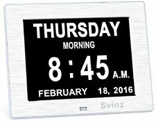 Upgraded - Svinz Memory Loss Day Clock Digital Calendar - Extra Large Day and -