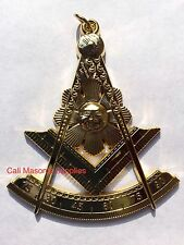 "3"" Past Master Golden Electroplated  Jewel For Masonic Collar Regalia Mason"