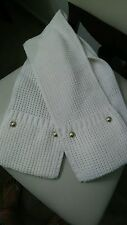 Michael Kors Cream Scarf With Gold Buttons Women's NWT