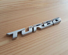 Silver Chrome 3D Metal TURBO Badge Sticker for Nissan Pixo Note Micra CC Terrano