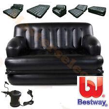 Divan canapé lit fauteuil gonflable 5 en 1 pour camping d'appoint avec pompe