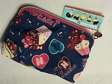 NEW HARAJUKU LOVERS CUPCAKE CUTIES MAKEUP COSMETICS PURSE CLUTCH BAG CHERRY BOMB