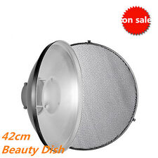 "42cm/16"" Photography Studio Honeycomb Beauty Dish for Bowens Strobe Speedlight"