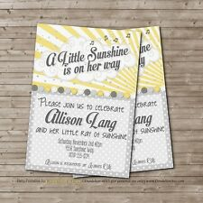 You Are My Sunshine PRINTABLE Baby Shower Invitation U-Print DIY Little Sun
