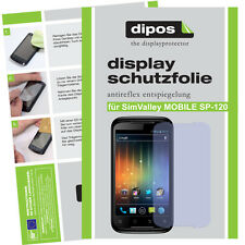 1x SimValley Mobile SP-120 Schutzfolie matt Displayschutzfolie Antireflex