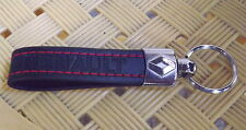 RENAULT Keyring Eco Leather Key Chain Keyfob KeyHolder Chrome 3D black / red