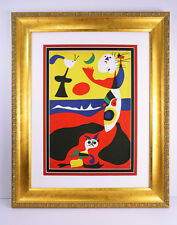 AUTHENTIC Joan MIRO 1938 Color Lithograph SUMMER Framed SIGNED High Value COA