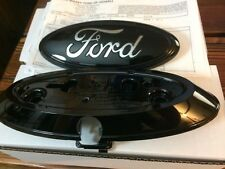 "2013-2014-15  f150 tailgate emblem w/backup camera & bezel,GLOSS BLACK 7"" 3D"