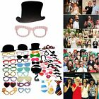 58pcs Photo Booth Props Glass Mustache On A Stick Wedding Birthday Party Masks
