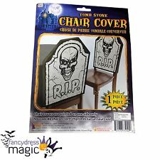 Halloween Horror Party RIP Skull Tombstone Gravestone Chair Cover Decoration New