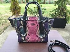 NWT Authentic COACH 33723 CROSBY MINI CARRYALL PYTHON EMBOSSED LEATHER BAG