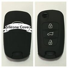 BLACK CAR KEY COVER CASE PROTECTOR Rio Sorento Sportage Picanto Seed FOR KIA