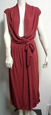 NWT $1,998 BOTTEGA VENETA ROSE DRAPED WRAP EVENING DRESS SIZE 44 US 8