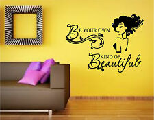 Be Your Own Kind of Beautiful Wall Decor Mural Vinyl Lettering Decal Sticker