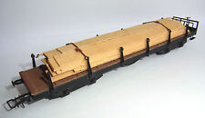 Ehlcke HO-Rungenwagen + mit Holzladung-sehr gut- freight car+timber load